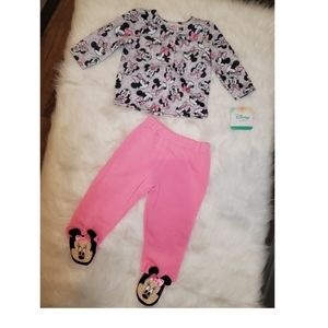 NWT 6-9M Baby girl Minnie Mouse sweatsuit